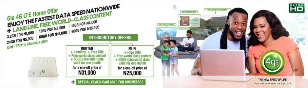 glo 4g lte data plan for andriod