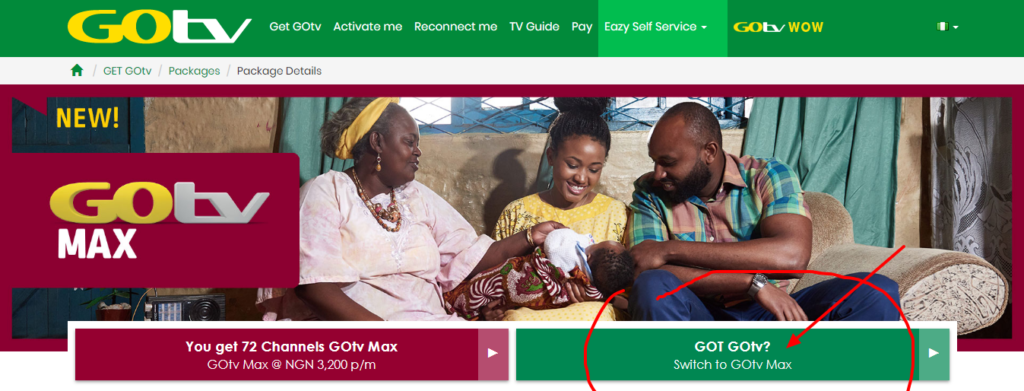 upgrade to gotv max