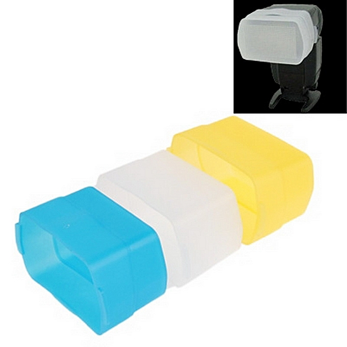 Generic 3-colors Flash Diffuser For speedlite