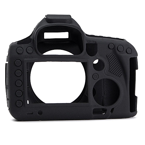 Durable Silicone Rubber Protective Body Camera Cover For Canon 5D3 Black