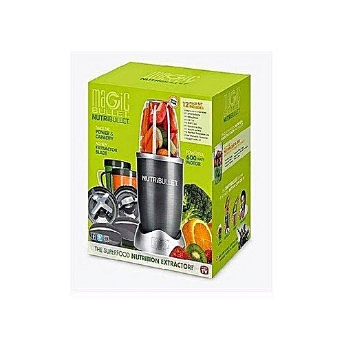 Magic Bullet NutriBullet Blender & Mixer System - 600Watt - 12Pcs