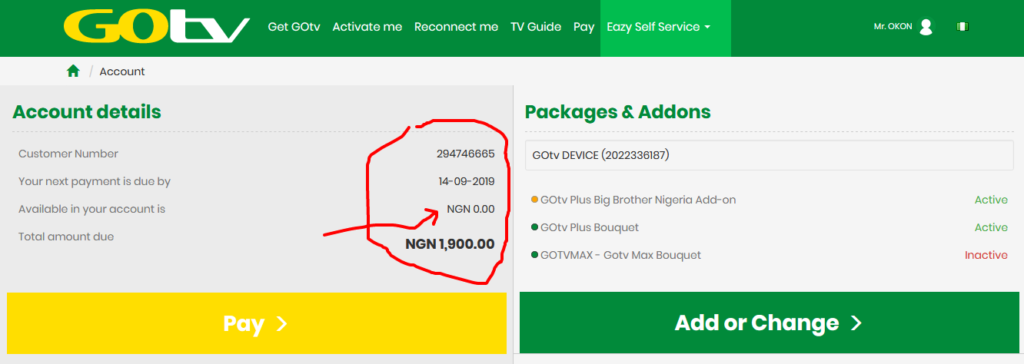 How to check Gotv Balance Online 6